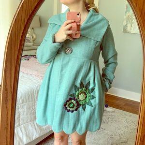 Judith March Aqua colored Pea Coat